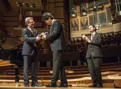 Lang Lang, receiving honourary doctorate @ Symphony Hall, Fri 4th April - by Steve Thorne