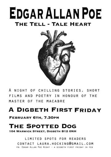 Tell-Tale Heart: Edgar Allan Poe @ The Spotted Dog, Fri 6th Feb '15
