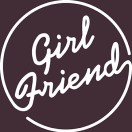 GIRLFRIEND logo white - on BR colours