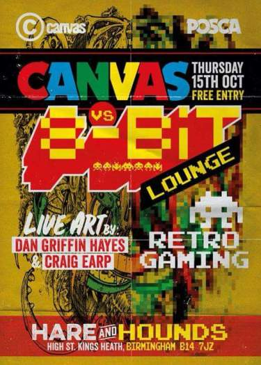 8 Bit Lounge Vs Canvas @ Hare & Hounds 15.10.15