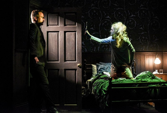 Joseph Wilkins as Father Joe and Clare Louise Connolly as Regan in The Exorcist / By Robert Day