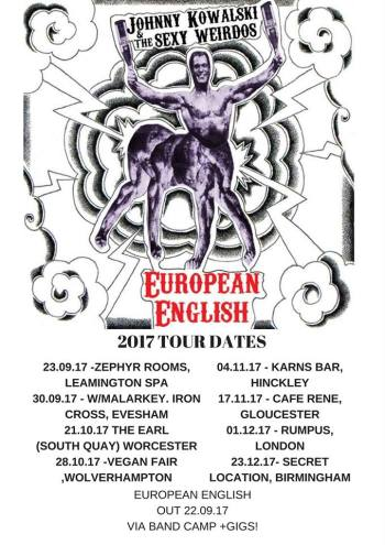 ALBUM: European English – Johnny Kowalski & the Sexy Weirdos