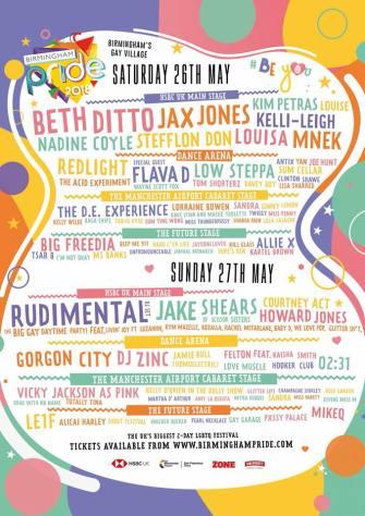 BPREVIEW: Birmingham Pride @ 26/7.05.18