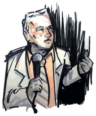 Doug Stanhope / Illustration by Emily Doyle