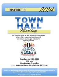 hall town meeting flyer april birminghamtimes