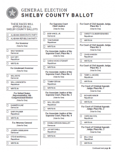 Sample Ballots: Review and Print Your Ballot Before You Go