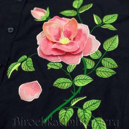 3d rose applique machine