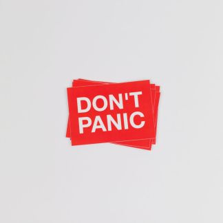 Don't Panic Sticker Top