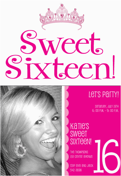invitations for sweet sixteen