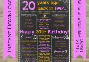 20th birthday gift ideas
