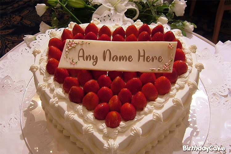 Strawberry Birthday Cake Of Name Generator