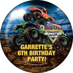 monster jam personalized button each