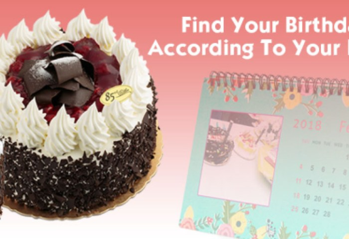 Find Your Birthday Cake According To Your Birth Month Birthday