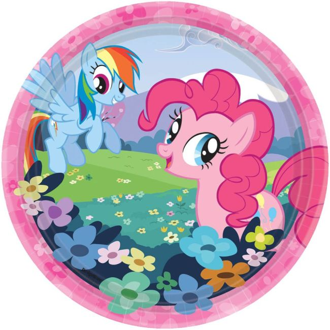 "My Little Pony Plate, 7"" (8 Pack) Birthday Party Supplies Plates"