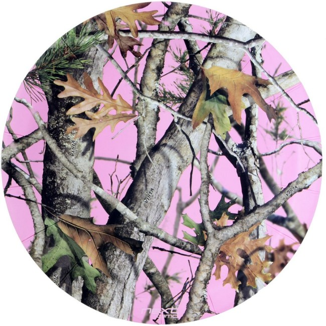 "Pink Camo 9"" Plate-Round (8 Pack) Birthday Party Supplies Plates"