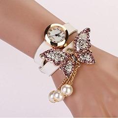 Women-Faux-Pearls-Rhinestone-Butterfly-Bracelet