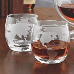 Etched Globe glasses