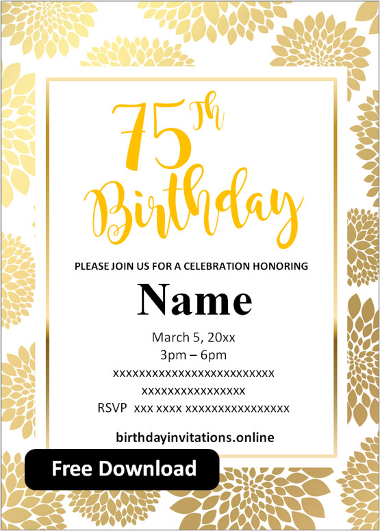 free printable 75th birthday