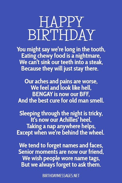 Funny Letter To Best Friend On Her Birthday : funny, letter, friend, birthday, Birthday, Poems, Heartfelt,, Humorous, Happy