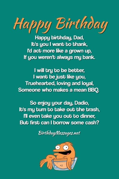 Happy Birthday Daughter From Dad Poems : happy, birthday, daughter, poems, Funny, Birthday, Poems, Messages