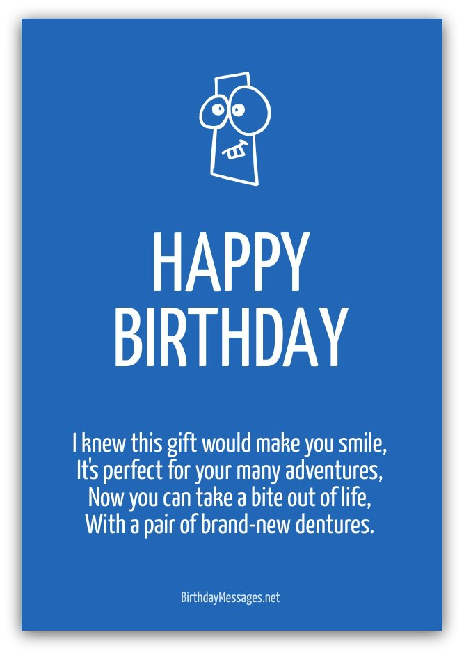 Short Funny Love Poems : short, funny, poems, Funny, Birthday, Poems, Messages