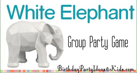 white elephant party ideas