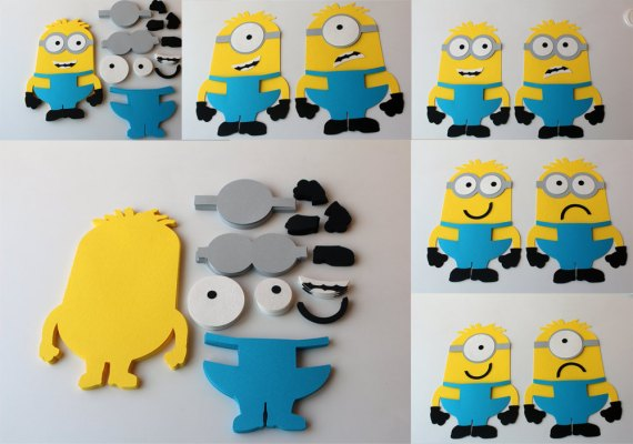 Minions Die Cuts DIY Kids Crafts Birthday Party Games