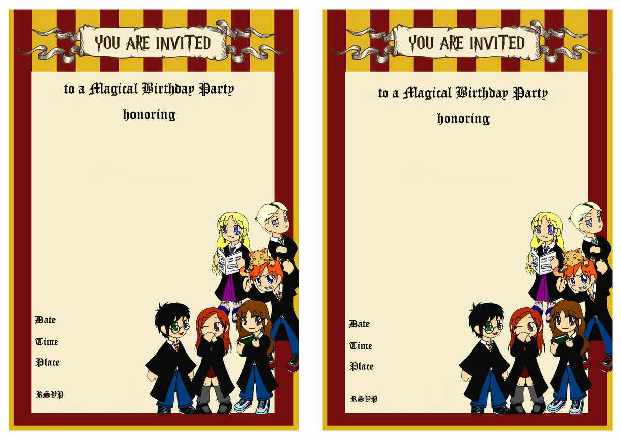 Harry Potter Birthday Invitations – Birthday Printable