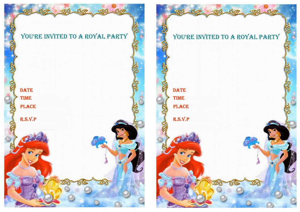 Princess Jasmine Birthday Invitations – Birthday Printable