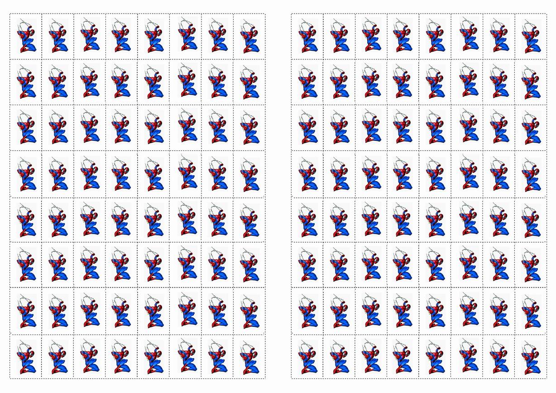 Spiderman Stickers Birthday Printable
