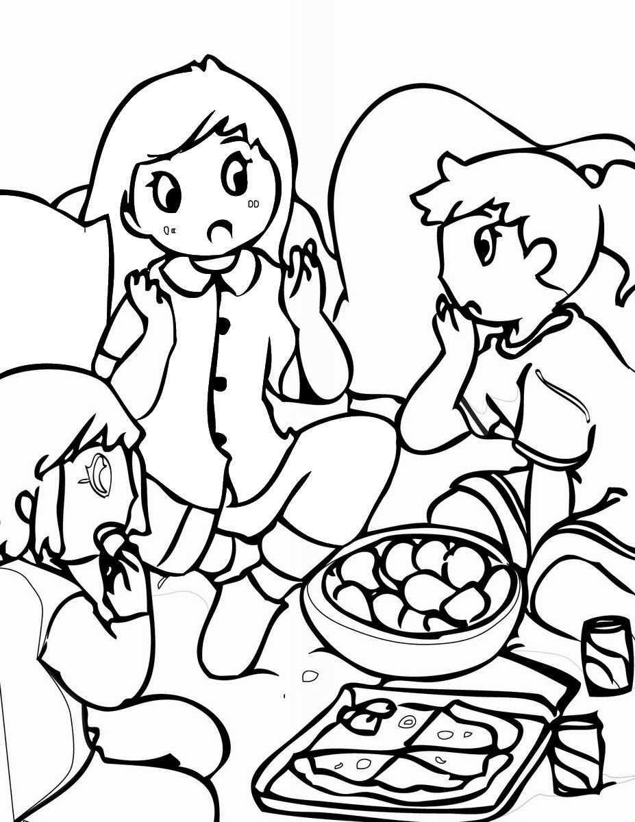 Slumber Party Pages Fashion Coloring Pages