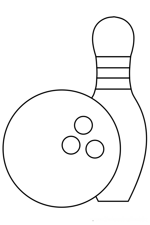 Bowling Coloring Pages