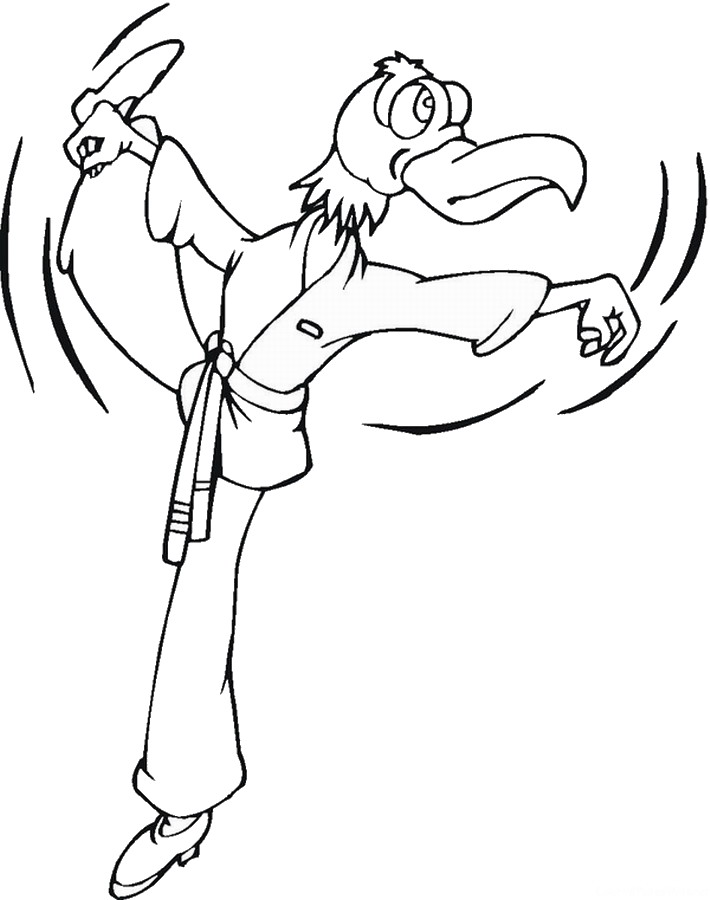 Karate Coloring Pages