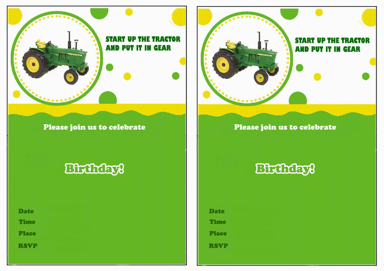 john deere birthday invitations