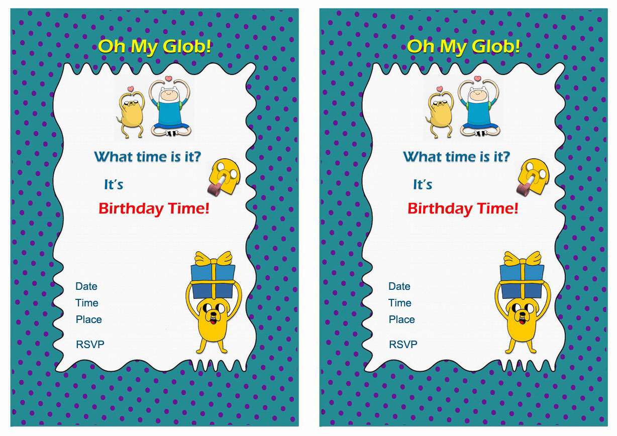 Lovely Free Printable Coloring Birthday Party Invitations