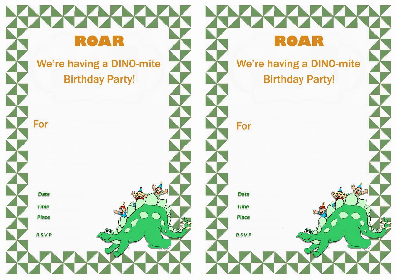 Dinosaur Birthday Invitations Birthday Printable