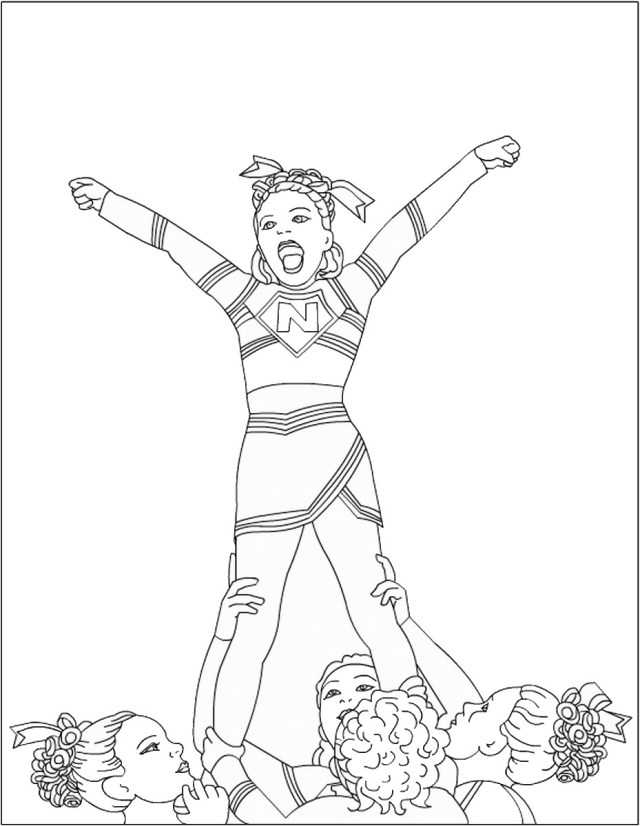 Cheerleading Coloring Pages – Birthday Printable