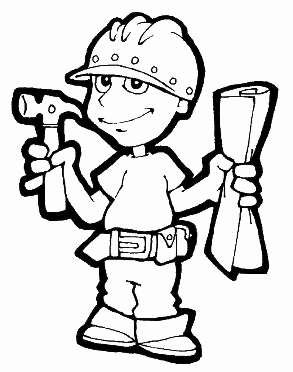 Constructions Coloring Pages Birthday Printable