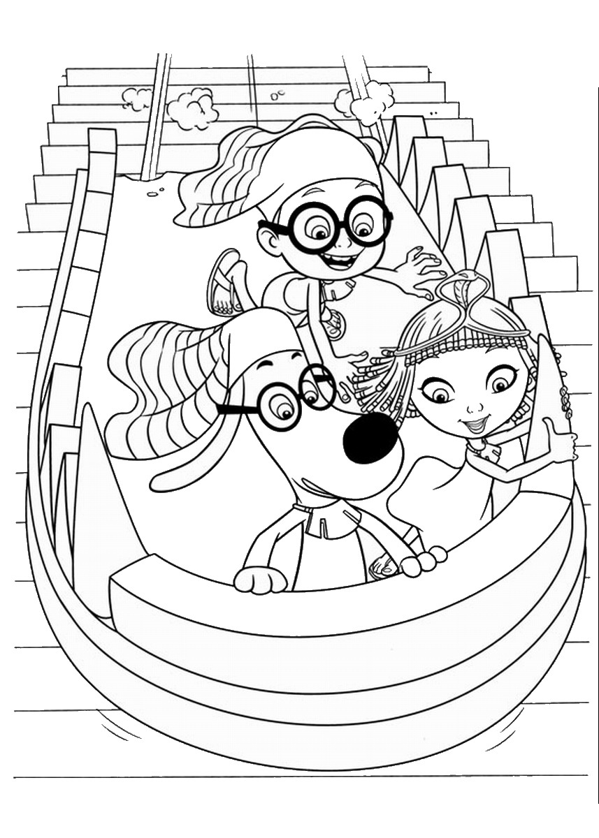 Mr. Peabody and Sherman Coloring Pages
