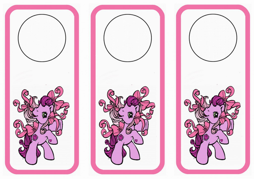 My Little Pony Door Hangers – Birthday Printable
