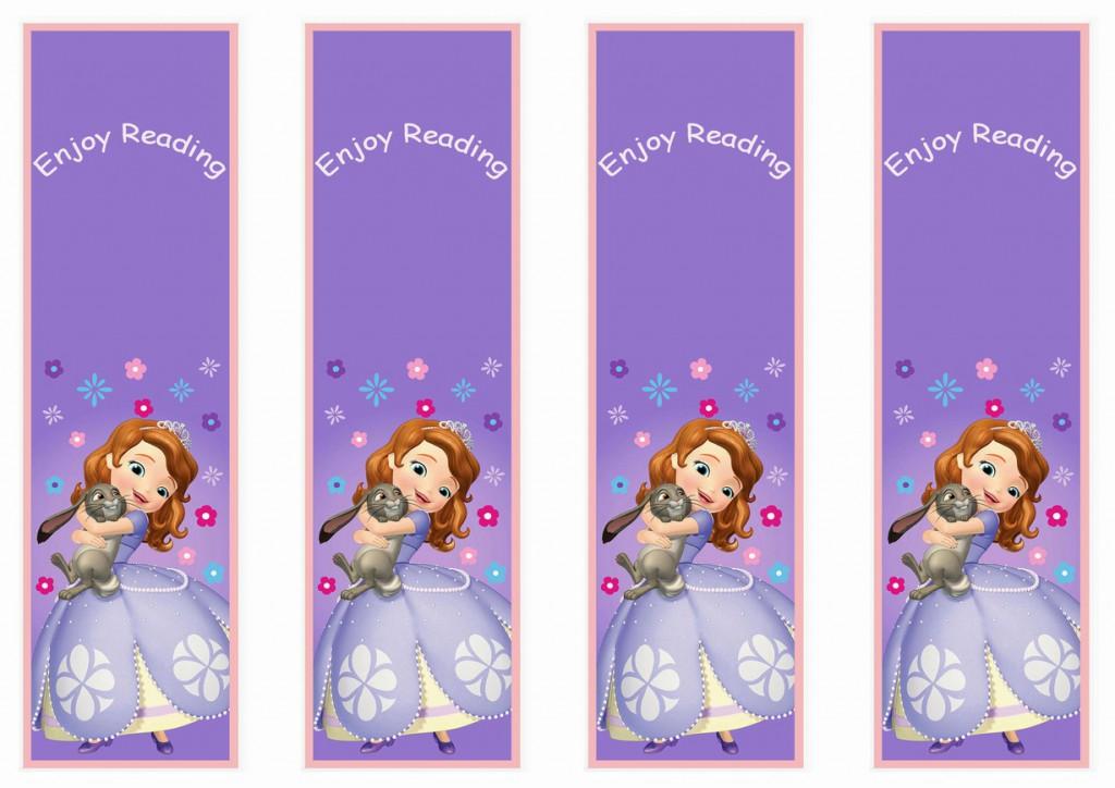 Sofia The First Bookmarks Birthday Printable