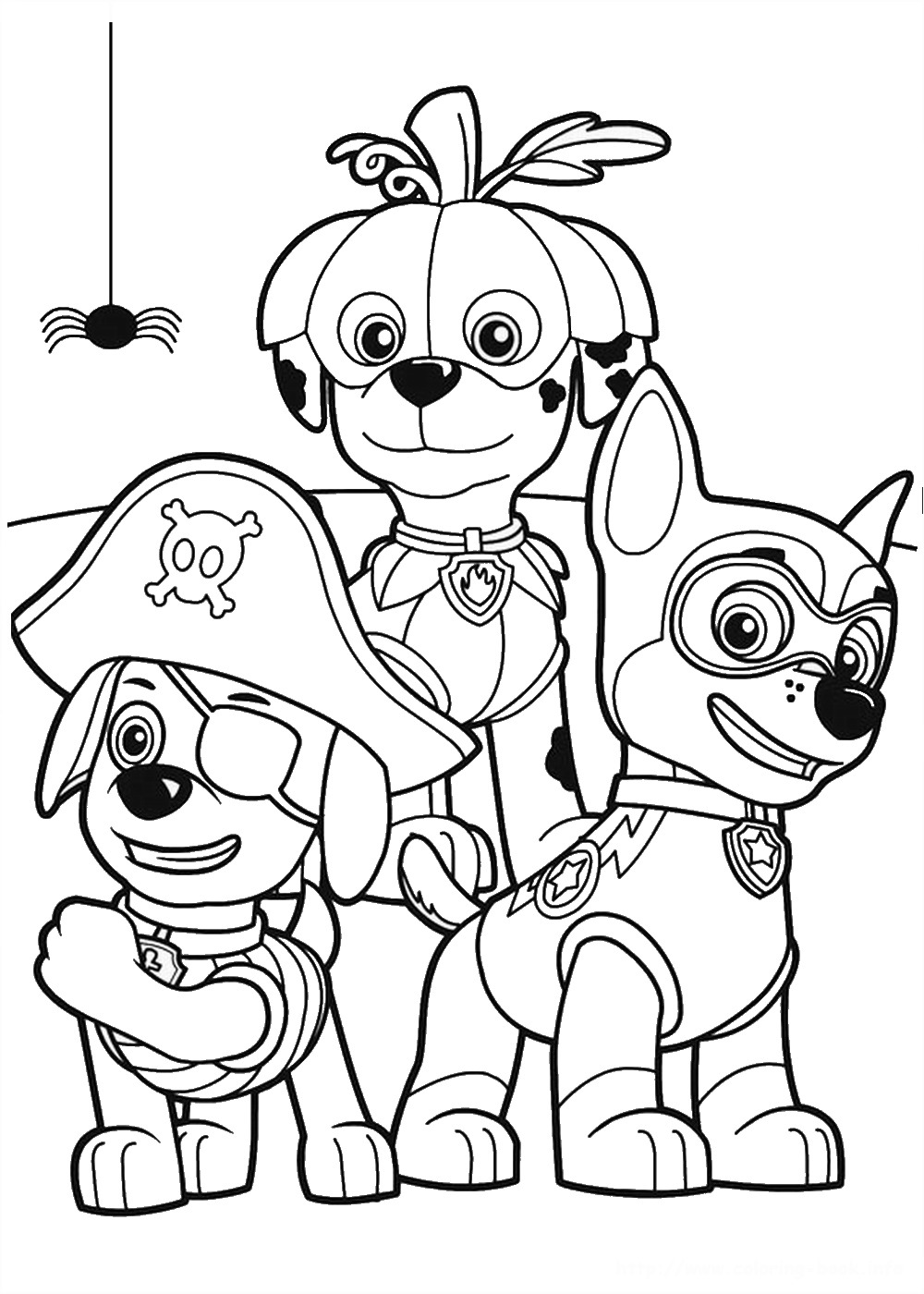 Coloring Paw Patrol Birthday Coloring Pages