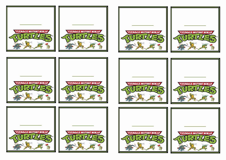 Teenage Mutant Ninja Turtles Name Tags Birthday Printable