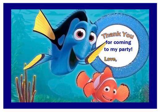 Finding Nemo Thank You Cards – Birthday Printable