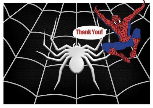 Spiderman Thank You Cards – Birthday Printable