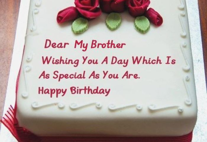 Birthday Cake For Brother With Best Wishes Happy Birthday Day Dear