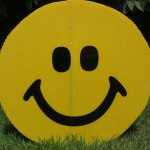 Smiley Face Lawn Ornament