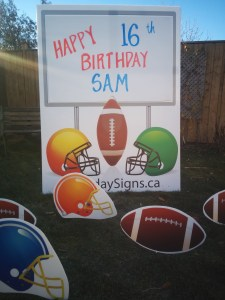 Football Lawn Sign