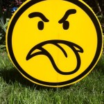 Angry face Lawn Ornament