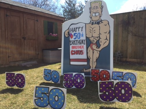 Muscle man with 50th